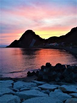 海の夕暮れの写真