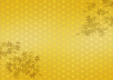 テクスチャ 麻の葉 テクスチャー あさのは 伝統模様  市松模様 アサノハ 背景 金 金箔 ゴールド 金屏風 背景素材 工芸 壁紙 屏風 和紙 歌舞伎 慶事 お正月 紅葉