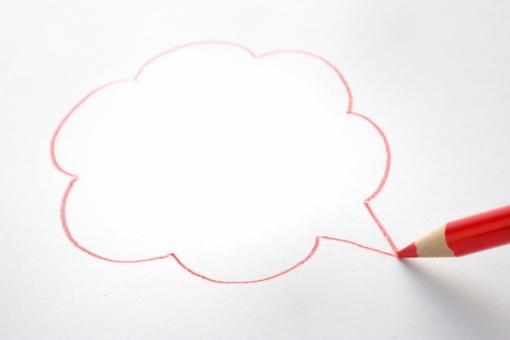 色エンピツ 色鉛筆 ふきだし 吹き出し 言葉 会話 話 伝達 おしゃべり トーク メモ 記録 ビジネス 会議 赤 紙 コピースペース 議論 話し合い 文字 スペース 書き込み コピースペース 背景 バックグラウンド 通話 情報 スケジュール 予定 人気