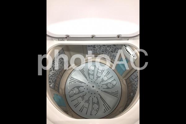 洗濯機 洗濯槽 大掃除ピカピカの写真