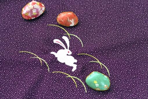 うさぎ 兎 ウサギ 風呂敷 雅 貝 小物 日本 お正月 背景 テクスチャー 和 和風