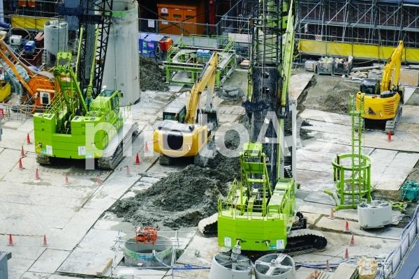 工事現場の風景の写真
