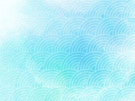 和柄水彩背景(青海波)の写真