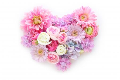 ふわふわ 花のハート 1の写真