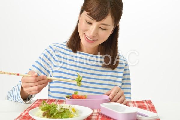 お弁当を詰める主婦6の写真