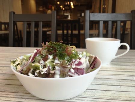 おしゃれ オシャレ カフェ サラダ 健康 ヘルシー 海藻 野菜 おいしい 美味しい 自由が丘