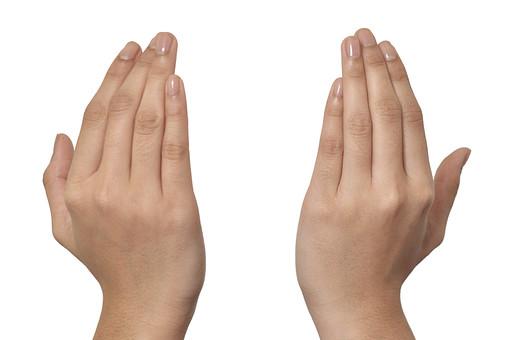 人物 背景 白 白背景 白バック 切り抜き パーツ ボディパーツ 両手 ポイント 指 手首 ジェスチャー 身ぶり 肌 余白  シンプル ハンドパーツ 手ぶり 覆う 顔を洗う 手の甲 人の手 掴む 優しく