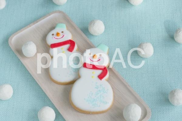 ゆきだるまクッキーの写真