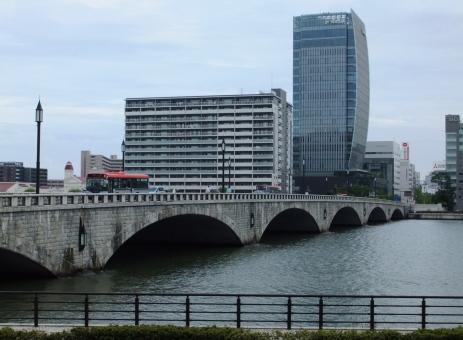 新潟 新潟市 万代橋 萬代橋 niigata メディアシップ 信濃川 橋 川 街並み 風景