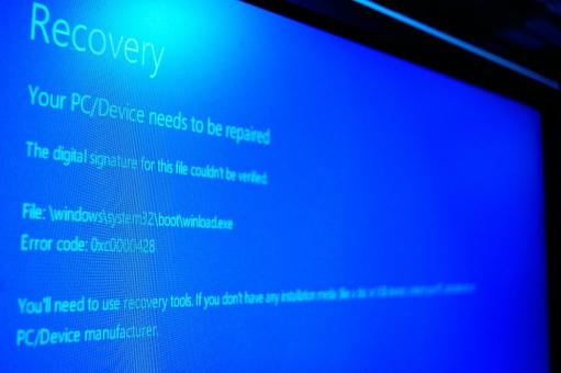 err error ブルースクリーン リカバリー 破損 パソコン 壊れる 背景 テクスチャー