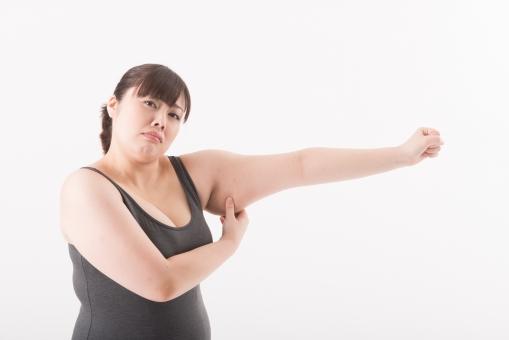 日本人 女性 ぽっちゃり 肥満 ダイエット 痩せる 痩せたい 目標 ビフォー アフター 太っている 太り気味 メタボ メタボリックシンドローム 脂肪 体系 ボディー 白バック 白背景 筋肉 筋トレ トレーニング 上腕二頭筋 セルライト 腕を見せる 贅肉 つかむ 掴む つまむ 横顔 驚く 恥ずかしい 困る 口を開ける 二の腕 mdjf020
