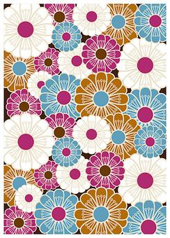 テクスチャ テクスチャー バックグラウンド 背景素材 生地 アップ 模様 正面 布 ポスター グラフィック ポストカード 柄 デザイン 紙 素材 和柄 和 絵 和紙 日本 優美 繊細 全面 和風 菊 まんじゅう菊 ピンク 白 水色 花 満開