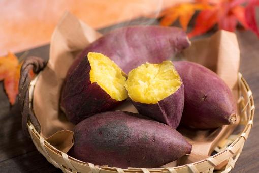 秋の壁紙・サツマイモ