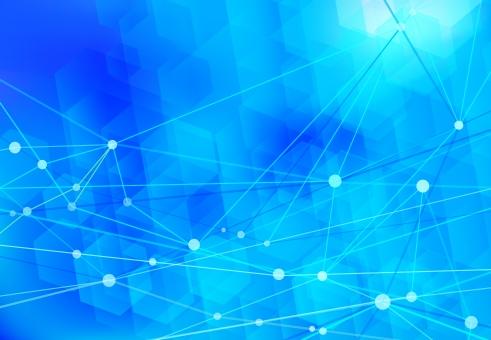 青のネットワークテクノロジー抽象背景素材の写真