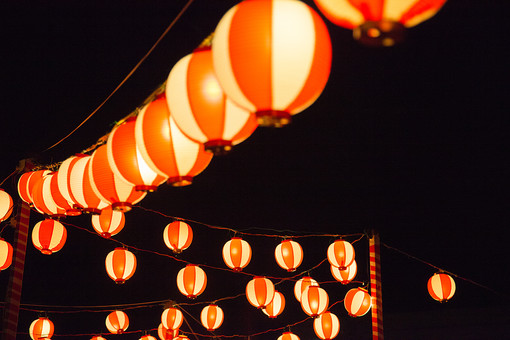 夏祭り 提灯6の写真