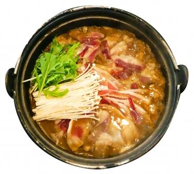 ぼたん鍋 ジビエ料理 しし鍋 切り抜き画像の写真