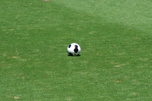 試合 サッカー フットボール ボール 蹴る 芝生 天然芝 人工芝