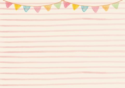 水彩 ウォーターカラー 絵の具 ボーダー しましま 模様 柄 画用紙 ガーランド フラッグ フラッグガーランド 装飾 パーティー イベント 催事 誕生日 結婚式 ウェディング 子ども かわいい 手書き 手描き ハンドメイド 背景 バック テクスチャ バックグラウンド フレーム 枠 囲み枠
