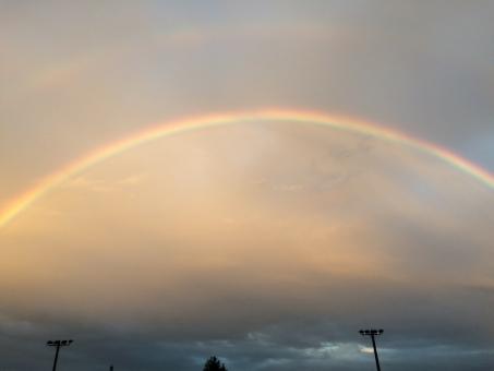 虹 虹の橋 雨上がり 空 レインボー 自然 二重 長い虹 雨 神秘的 綺麗