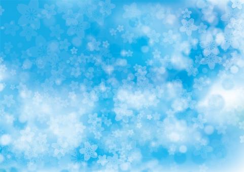 春 桜 花 夢 4月 テクスチャ 背景 素材 きらめき きらきら キラキラ 輝き 入学 卒業 お祝い さくら 立春 バレンタイン 雛まつり ホワイトデー 入園 卒園 合格 母の日 プロポーズ バック 青 空 青空 雲