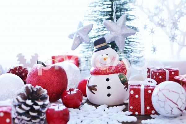 クリスマス スノーマンの写真