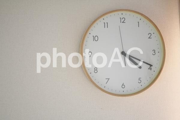 時計 スペースの写真