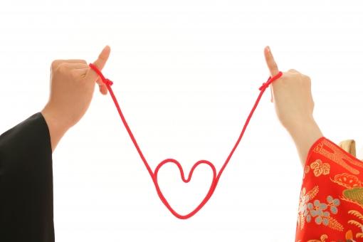 夫婦の赤い糸の写真