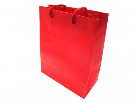 ペーパーバッグ 紙製 持つ 握る つかむ 提げる ぶら下げる 渡す 差し出す 受け取る お土産 手土産 白バック ショッピング 買い物 休日 紙袋 ショッパー ショッピングバッグ バッグ 袋 手提げ袋 プレゼント 贈り物 セール 店 デパート 柄 白背景 赤 あか アカ