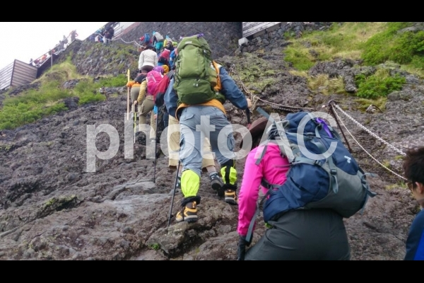 登山の写真