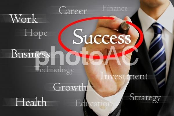 ビジネスマンと成功2の写真