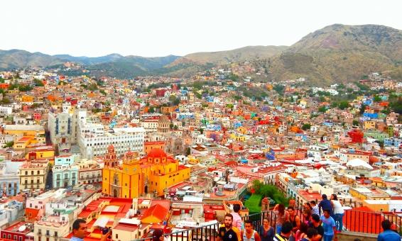 世界遺産 メキシコ グアナファト カラフル 街 家 海外 外国