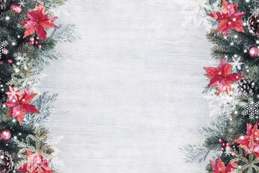 クリスマスのフレームの写真