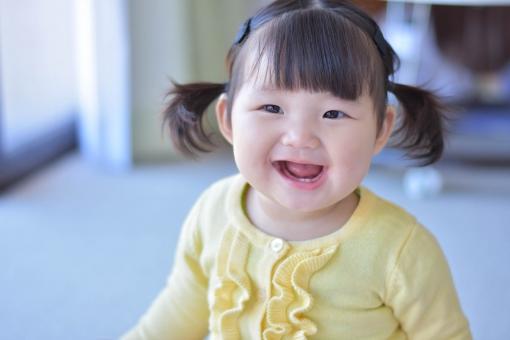 笑顔 歯 子供 女の子 こども 子ども 笑う 赤ちゃん 二重 BABY にっこり あかちゃん 9ヶ月 むちむち ぽちゃぽちゃ 生後9ヶ月