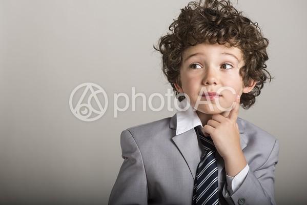 キッズビジネスマンの写真