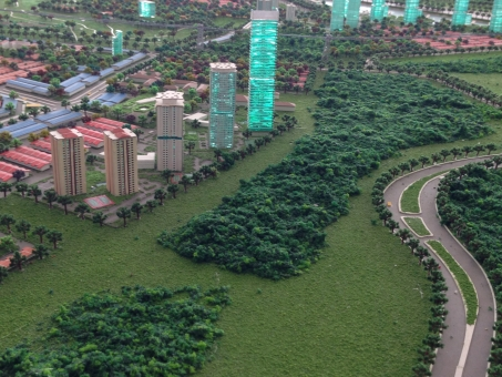 イスカンダル計画 模型 マレーシア ジョホールバル ダンガベイ 開発 発展途上