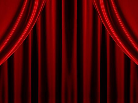 背景 フレーム バックグラウンド 素材 真紅 赤 カーテン ビロード 洋風 ドレープ 布 額 コマ 枠組み ひな型 垂らす 重なる デザイン グラフィック イラスト 加工 CG 幕 窓 舞台 両端 対称 閉める