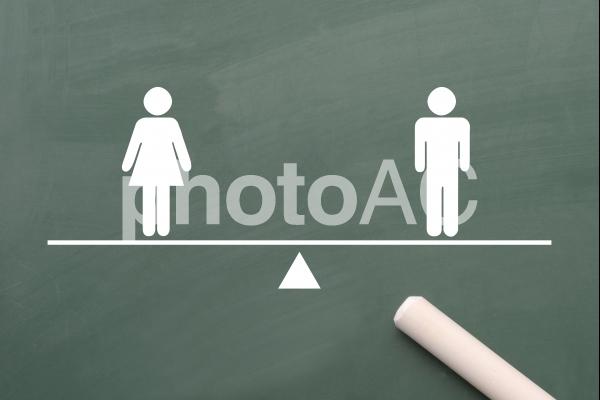 男女平等イメージの写真