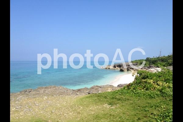 沖縄県宮古島のプライベートビーチの写真