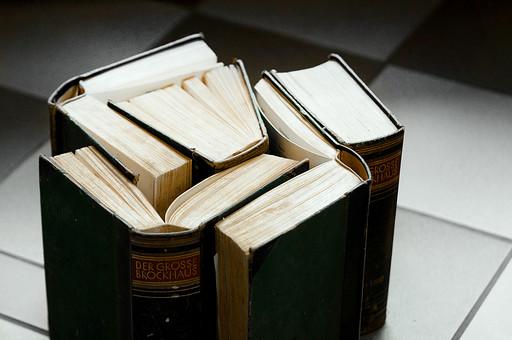 本 ブック 書物 書籍 図書 読書 読む 趣味 勉強 厚い 分厚い 立てる 寄せる 寄せ集め 集める 固める ページ 開く めくる 捲る 床 置く 接写 クローズアップ アップ