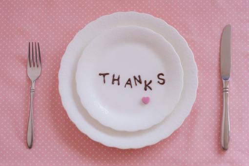 ハート ハート型 ナイフ フォーク カトラリー 皿 プレート バレンタイン バレンタインデー ピンク ピンク色 ありがとう 有難う メッセージ 気持ち アルファベット ギフト プレゼント 感謝
