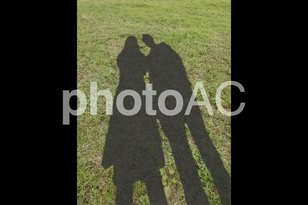 男女の影 1の写真