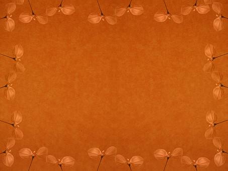 葉 木の葉 素材 葉脈 植物 自然 パターン 暖色 ナチュラル 暖かい 空間 余白 テクスチャ 質感 背景 背景素材 バックグラウンド テキストスペース コピースペース 二葉 双葉 新芽 発芽 芽 生える 透かし 透ける 半透明  茶色 枠 フレーム 額 加工 写真加工 飾り枠