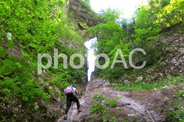 妙義山登山の写真