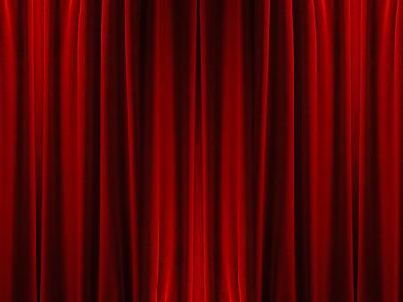 背景 フレーム バックグラウンド 素材 真紅 赤 カーテン ビロード 洋風 ドレープ 布 額 コマ 枠組み ひな型 垂らす 重なる デザイン グラフィック イラスト 加工 CG 幕 窓 舞台 閉める