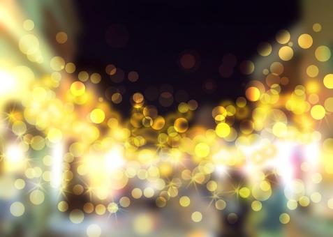 キラキラ 灯り 輝き 夜 街並 繁華街 光 光彩 ボケ bokeh 照明 イルミネーション ライト 街 黄色 オレンジ キラキラ きらきら ライトアップ ぼかし 幻想的 クリスマス 聖夜 カラフル 玉 球 華やか きらびやか きらめき 煌めき