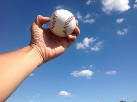 野球 野球部 高校野球 硬式野球 ベースボール 空 青空 一球入魂 白球 試合 球技