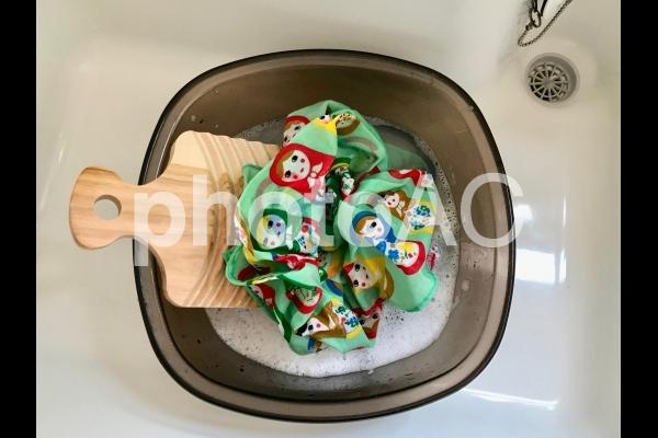 手洗いの必需品 洗濯板9の写真