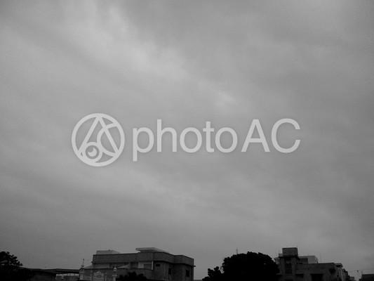 白黒 空の写真