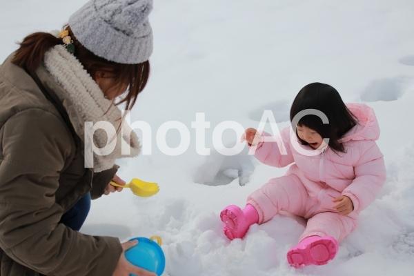 雪遊びの写真