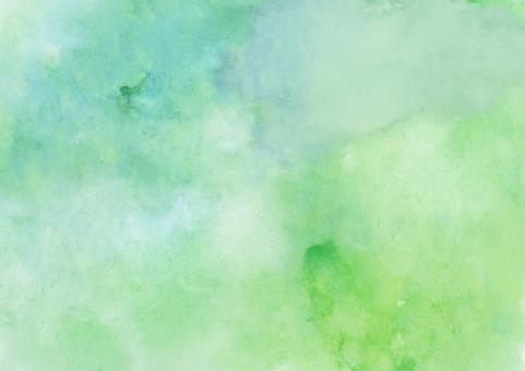 テクスチャ テクスチャー 背景 水彩 バック バックグラウンド 水彩画 ウォーターカラー 絵の具 塗りつぶし ベタ ラフ にじみ 滲み 混色 緑 グリーン 新緑 さわやか イメージ エコ 環境 和 ドロー ペイント 模様 柄 ハンドメイド 手書き 手描き